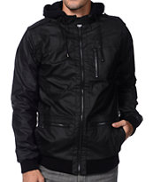 KR3W Wallace Black Faux Leather Jacket