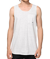 KR3W White Stripe Pocket Tank Top
