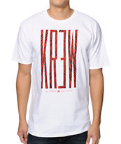 KR3W Zebra Stretch White Tee Shirt