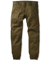 Kennedy Weekender Green Denim Jogger Pants