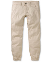 Kennedy Weekender Light Khaki Denim Jogger Pants