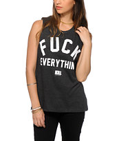 Kill Brand Fuck Everything Charcoal Muscle T-Shirt