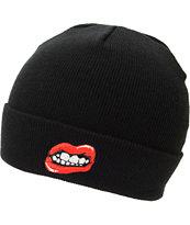 Kill Brand Lips Black Fold Beanie