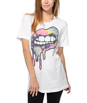 Kill Brand Tie Dye Lips T-Shirt