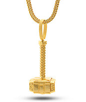 King Ice Hammer Gold Necklace