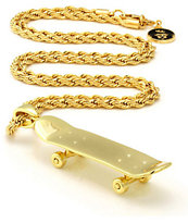 King Ice Skateboard Gold Necklace