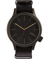 Komono All Black Analog Watch