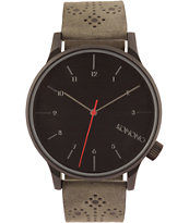 Komono Winston Brogue Charcoal Analog Watch