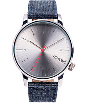 Komono Winston Chambray Analog Watch