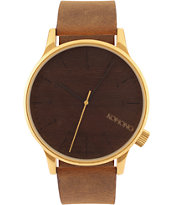Komono Winston Gold Wood Analog Watch