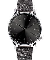 Komono Winston Print Paisley Analog Watch