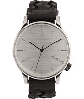 Komono Winston Woven Black Analog Watch