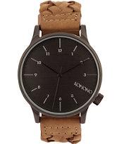 Komono Winston Woven Chestnut Analog Watch
