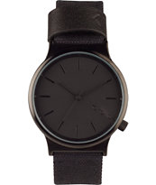 Komono Wizard All Black Nylon Heritage Watch