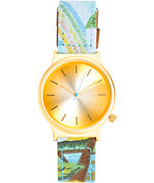 Komono Wizard Print Bora Bora Analog Watch