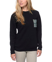 Krochet Kids Black & Teal Pocket Crew Neck Sweatshirt