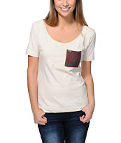 Krochet Kids White Pocket Tee Shirt