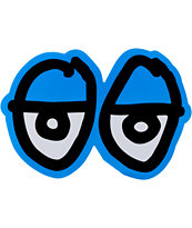 Krooked Eyes Blue Medium Size Sticker