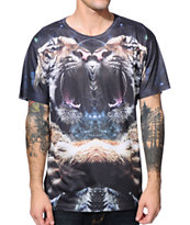 LA Tree House Club Tiger Fight Sublimated Tee Shirt