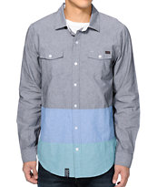 LRG 47th Cavalry Charcoal Long Sleeve Button Up Shirt