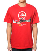 LRG All-Terrainien Red Tee Shirt