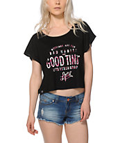 LRG Bad Habits Good Times Crop Top
