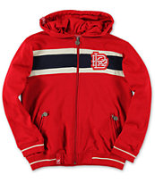 LRG Boys 47 Grams Red Zip Up Hoodie