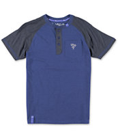 LRG Boys Blue Henley Pocket Tee Shirt