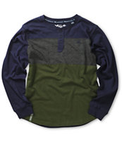 LRG Boys Color Block Long Sleeve Henley T-Shirt