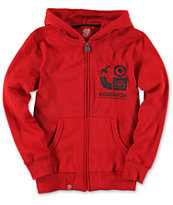 LRG Boys Grassroots Red Zip Up Hoodie