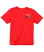 LRG Boys Inventive Red Tee Shirt