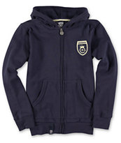 LRG Boys Legends Navy Zip Up Hoodie