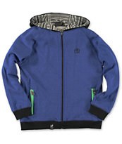 LRG Boys Maxim Gunner Blue Zip Up Hoodie