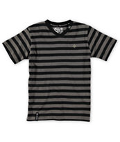 LRG Boys Striped V-Neck Tee Shirt