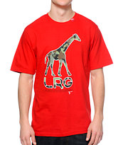 LRG CC Giraffe Red Tee Shirt