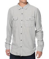 LRG CC Heather Grey Button Up Woven Shirt