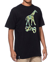 LRG Giraffe Nuggs Black Tee Shirt