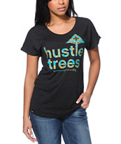 LRG Girls Hustle Charcoal Tri-Blend Dolman Tee Shirt