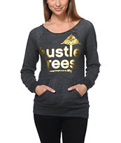 LRG Girls Hustle Trees Black Crew Neck Sweatshirt