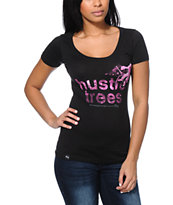 LRG Girls Space Hustler Black Scoop Neck Tee Shirt