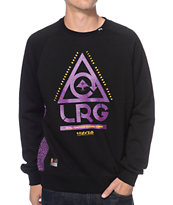 LRG Gritstone Black & Purple Crewneck Sweatshirt