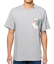 LRG Hawaiian Safari Pocket Tee Shirt
