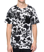 LRG Heavy Breakage Black & White Pocket Tee Shirt