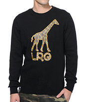 LRG Hideout Black Long Sleeve Thermal Shirt