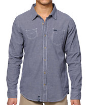 LRG Journeyman Navy Long Sleeve Button Up Shirt
