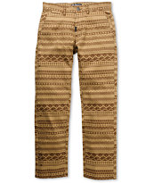 LRG Lion Rock True Straight Brown Pattern Regular Fit Pants