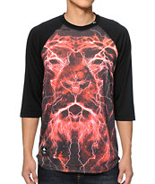 LRG Lion Shocker Baseball Tee Shirt