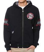 LRG Mali Black Zip Up Hoodie