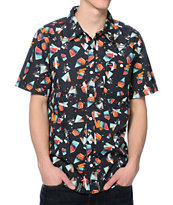 LRG Over Spray Black Button Up Shirt