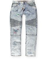 LRG Rip And Repair Light Acid Wash Regular Fit Jeans